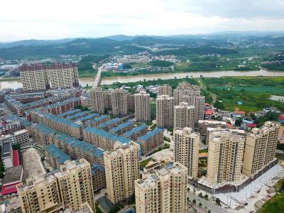 2020年隆回方大桂花城高空全景